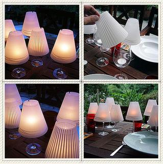 wine glass candle lantern